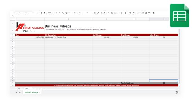 business mileage
