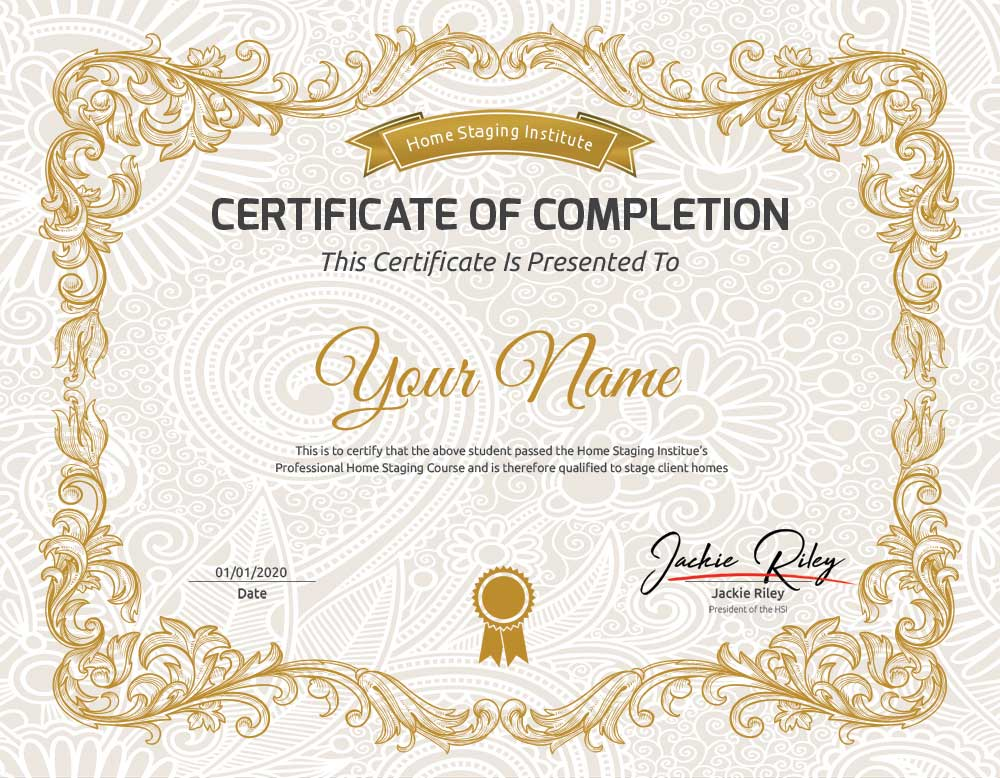 home staging certificate