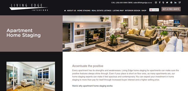 apartment home staging