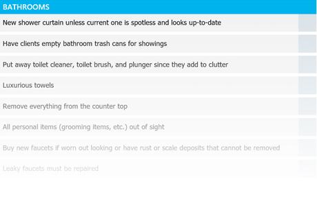 bathrooms checklist