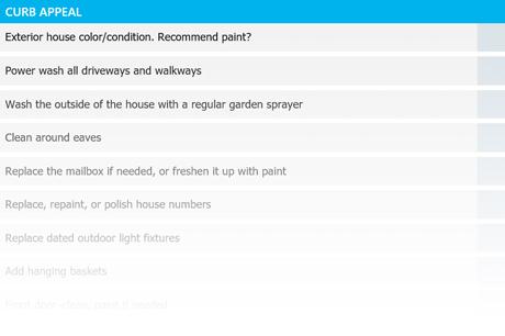 curb appeal checklist