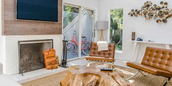 home staging fireplace