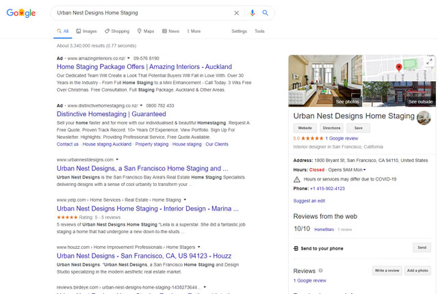 home staging reviews google