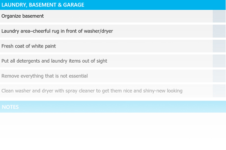 laundry checklist