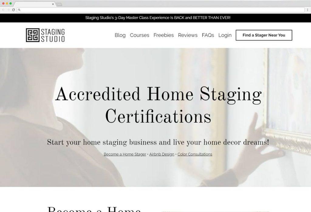 staging studio certification cost