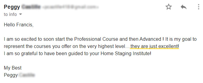 home staging testimonial
